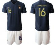 Wholesale Cheap France #16 Mandanda Home Soccer Country Jersey