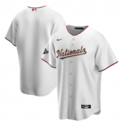 Wholesale Cheap Men's Washington Nationals White Gold 2019 World Series Champions Blank MLB Cool Base Nike Jersey
