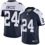 Wholesale Cheap Nike Cowboys #24 Chidobe Awuzie Navy Blue Thanksgiving Youth Stitched NFL Vapor Untouchable Limited Throwback Jersey