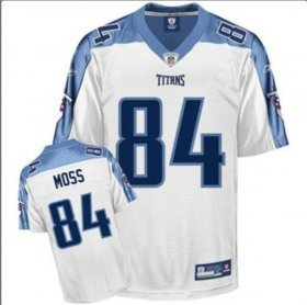 Wholesale Cheap Titans #84 Randy Moss Stitched White NFL Jersey