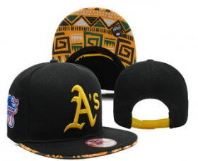 Wholesale Cheap MLB Oakland Athletics Snapback Ajustable Cap Hat 8