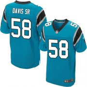 Wholesale Cheap Nike Panthers #58 Thomas Davis Sr Blue Alternate Men's Stitched NFL Elite Jersey
