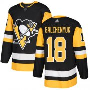 Wholesale Cheap Adidas Penguins #18 Alex Galchenyuk Black Home Authentic Stitched NHL Jersey