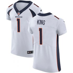 Wholesale Cheap Nike Broncos #1 Marquette King White Men\'s Stitched NFL Vapor Untouchable Elite Jersey