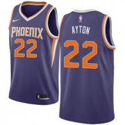 Wholesale Cheap Women's Nike Phoenix Suns #22 Deandre Ayton Purple NBA Swingman Icon Edition Jersey