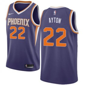 Wholesale Cheap Women\'s Nike Phoenix Suns #22 Deandre Ayton Purple NBA Swingman Icon Edition Jersey