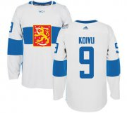 Wholesale Cheap Team Finland #9 Mikko Koivu White 2016 World Cup Stitched NHL Jersey