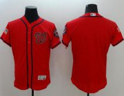 Wholesale Cheap Nationals Blank Red Fashion Stars & Stripes Flexbase Authentic Stitched MLB Jersey