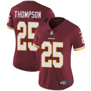 Wholesale Cheap Nike Redskins #25 Chris Thompson Burgundy Red Team Color Women's Stitched NFL Vapor Untouchable Limited Jersey