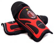 Wholesale Cheap AC Milan Soccer Shin Guards Red