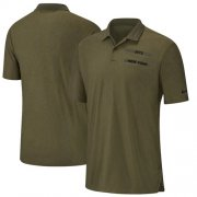 Wholesale Cheap New York Jets Nike Salute to Service Sideline Polo Olive