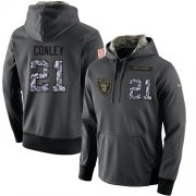 Wholesale Cheap NFL Men's Nike Oakland Raiders #21 Gareon Conley Stitched Black Anthracite Salute to Service Player Performance Hoodie