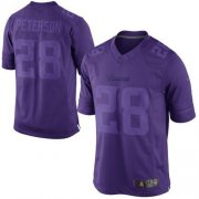 Wholesale Cheap Nike Vikings #28 Adrian Peterson Purple Men's Stitched NFL Drenched Limited Jersey