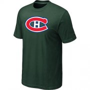 Wholesale Cheap Montreal Canadiens Big & Tall Logo Dark Green NHL T-Shirt