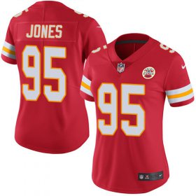 Wholesale Cheap Nike Chiefs #95 Chris Jones Red Team Color Women\'s Stitched NFL Vapor Untouchable Limited Jersey