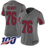 Wholesale Cheap Nike Cardinals #76 Marcus Gilbert Silver Women's Stitched NFL Limited Inverted Legend 100th Season Jersey
