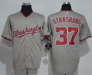 Wholesale Cheap Nationals #37 Stephen Strasburg Grey New Cool Base Stitched MLB Jersey