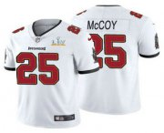 Wholesale Cheap Men's Tampa Bay Buccaneers #25 LeSean McCoy White 2021 Super Bowl LV Limited Stitched NFL Jersey