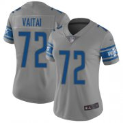 Wholesale Cheap Nike Lions #72 Halapoulivaati Vaitai Gray Women's Stitched NFL Limited Inverted Legend Jersey