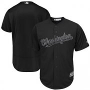 Wholesale Cheap Washington Nationals Blank Majestic 2019 Players' Weekend Cool Base Team Jersey Black