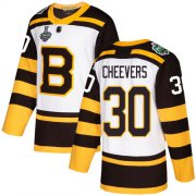 Wholesale Cheap Adidas Bruins #30 Gerry Cheevers White Authentic 2019 Winter Classic Stanley Cup Final Bound Stitched NHL Jersey