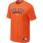 Wholesale Cheap Boston Red Sox Nike Short Sleeve Practice MLB T-Shirt Orange