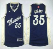 Wholesale Cheap Oklahoma City Thunder #35 Kevin Durant Revolution 30 Swingman 2015 Christmas Day Navy Blue Jersey