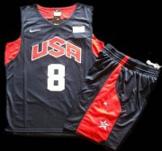 Wholesale Cheap 2012 Olympic USA Team #8 Deron Williams Blue Basketball Jerseys & Shorts Suit