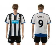 Wholesale Cheap Newcastle #9 Cisse Home Soccer Club Jersey