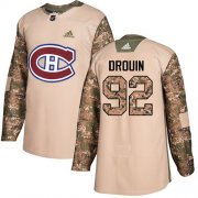 Wholesale Cheap Adidas Canadiens #92 Jonathan Drouin Camo Authentic 2017 Veterans Day Stitched NHL Jersey