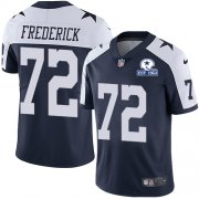 Wholesale Cheap Nike Cowboys #72 Travis Frederick Navy Blue Thanksgiving Men's Stitched With Established In 1960 Patch NFL Vapor Untouchable Limited Throwback Jersey