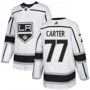 Wholesale Cheap Adidas Kings #77 Jeff Carter White Road Authentic Stitched NHL Jersey