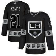 Wholesale Cheap Adidas Kings #21 Mario Kempe Black Authentic Team Logo Fashion Stitched NHL Jersey