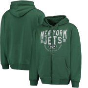 Wholesale Cheap New York Jets G-III Sports by Carl Banks Post Season Full-Zip Hoodie Green