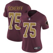 Wholesale Cheap Nike Redskins #75 Brandon Scherff Burgundy Red Alternate Women's Stitched NFL Vapor Untouchable Limited Jersey