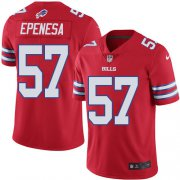 Wholesale Cheap Nike Bills #57 A.J. Epenesas Red Youth Stitched NFL Limited Rush Jersey