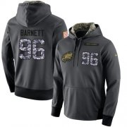 Wholesale Cheap NFL Men's Nike Philadelphia Eagles #96 Derek Barnett Stitched Black Anthracite Salute to Service Player Performance Hoodie