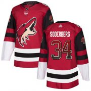Wholesale Cheap Adidas Coyotes #34 Carl Soderberg Maroon Home Authentic Drift Fashion Stitched NHL Jersey