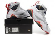 Wholesale Cheap WMNS Air Jordan 7 GS Shoes White/silver-blue-black-red