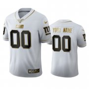 Wholesale Cheap New York Giants Custom Men's Nike White Golden Edition Vapor Limited NFL 100 Jersey