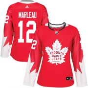 Wholesale Cheap Adidas Maple Leafs #12 Patrick Marleau Red Team Canada Authentic Women's Stitched NHL Jersey