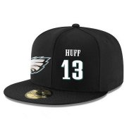 Wholesale Cheap Philadelphia Eagles #13 Josh Huff Snapback Cap NFL Player Black with White Number Stitched Hat