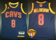 Wholesale Cheap Men's Cleveland Cavaliers #8 Matthew Dellavedova 2015 The Finals New Navy Blue Jersey