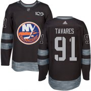 Wholesale Cheap Adidas Islanders #91 John Tavares Black 1917-2017 100th Anniversary Stitched NHL Jersey