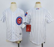 Wholesale Cheap Cubs Blank White(Blue Strip) Cool Base Stitched Youth MLB Jersey