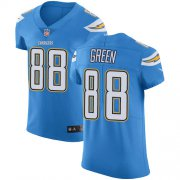 Wholesale Cheap Nike Chargers #88 Virgil Green Electric Blue Alternate Men's Stitched NFL Vapor Untouchable Elite Jersey