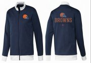 Wholesale Cheap NFL Cleveland Browns Victory Jacket Dark Blue