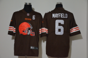 Wholesale Cheap Men's Cleveland Browns #6 Baker Mayfield Brown 2020 Big Logo Number Vapor Untouchable Stitched NFL Nike Fashion Limited Jersey