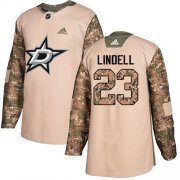 Wholesale Cheap Adidas Stars #23 Esa Lindell Camo Authentic 2017 Veterans Day Stitched NHL Jersey