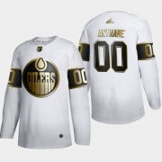 Wholesale Cheap Edmonton Oilers Custom Men's Adidas White Golden Edition Limited Stitched NHL Jersey